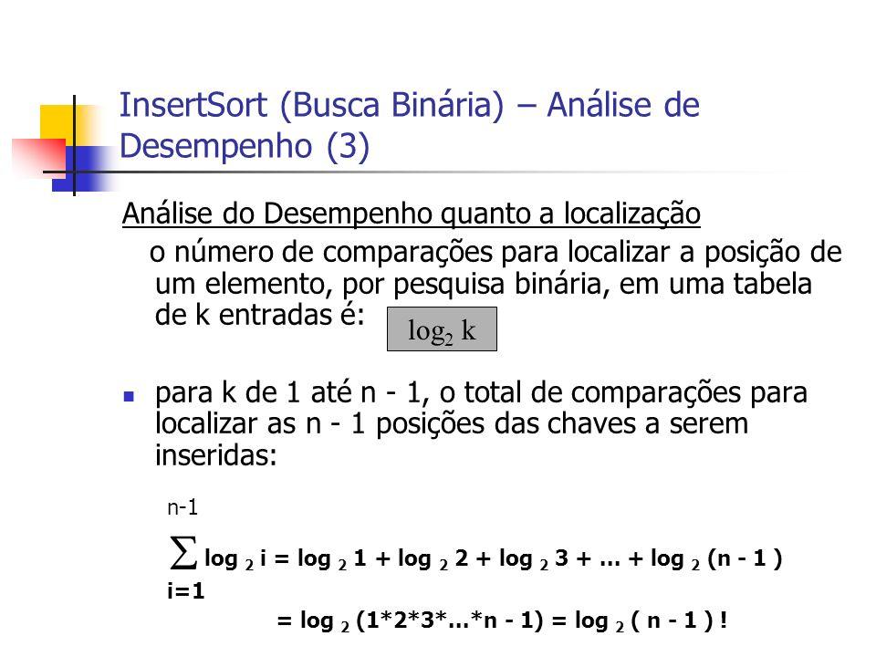 InsertSort (Busca Binária) – Análise de Desempenho (3)