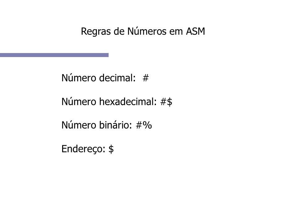 Regras de Números em ASM