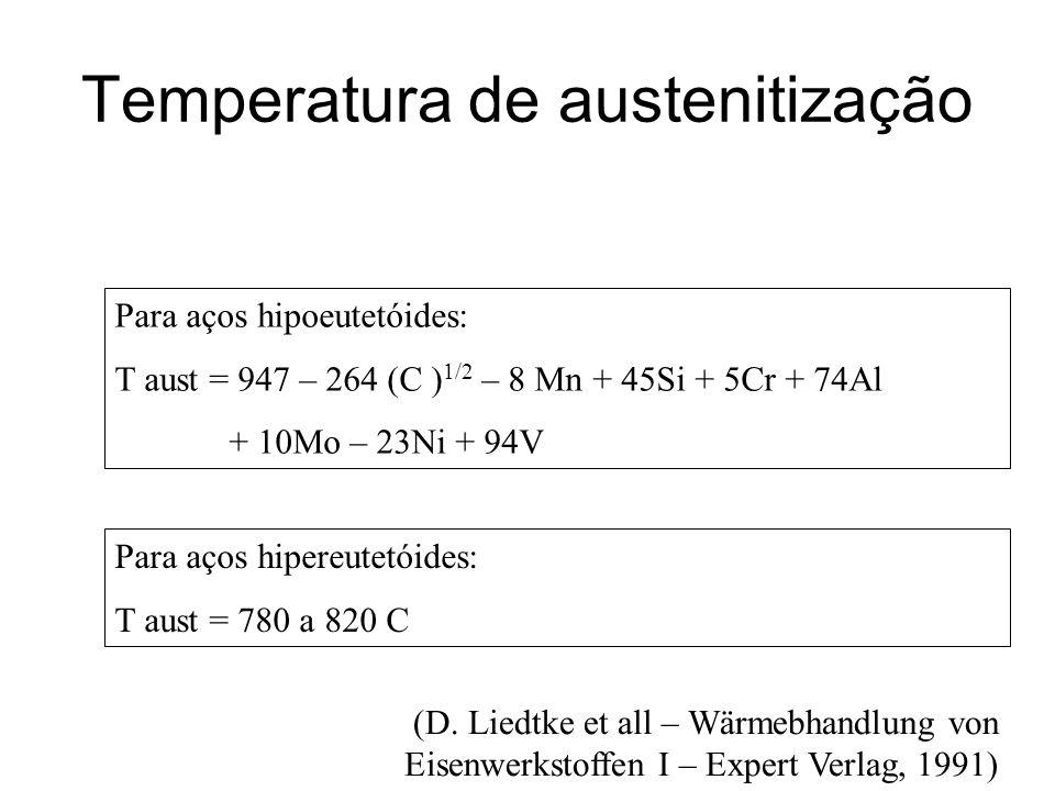 Temperatura de austenitização