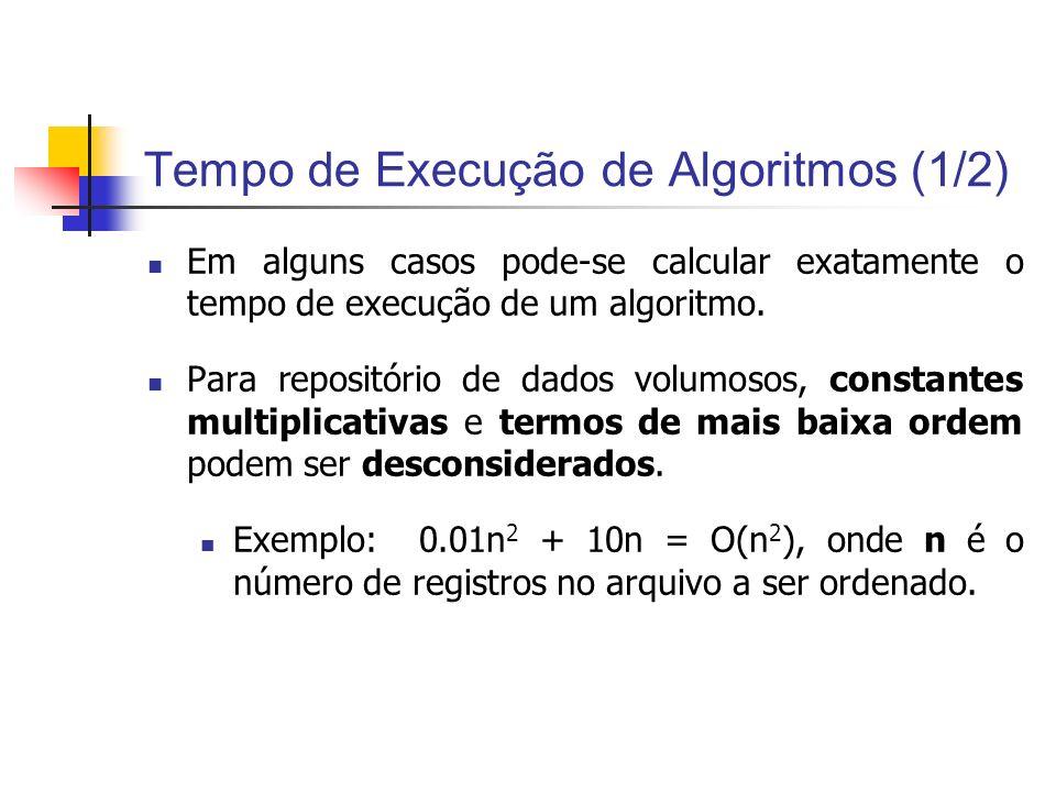 Tempo de Execução de Algoritmos (1/2)