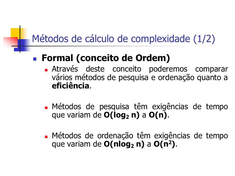 Métodos de cálculo de complexidade (1/2)