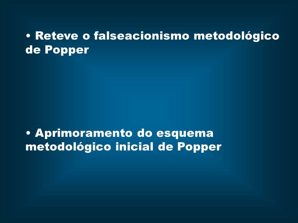 Reteve o falseacionismo metodológico de Popper