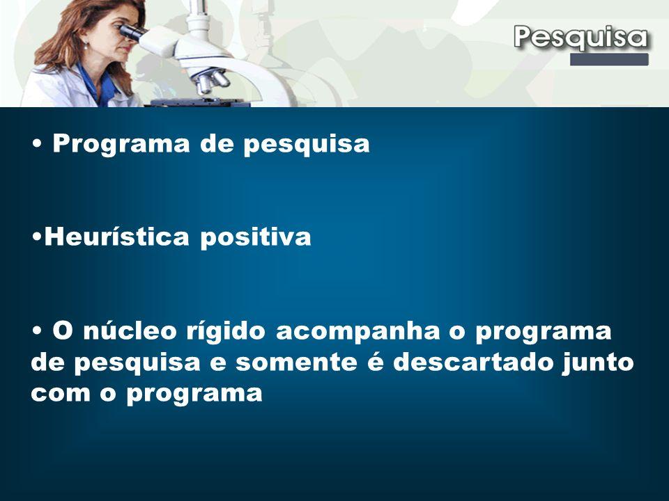 Programa de pesquisa Heurística positiva.