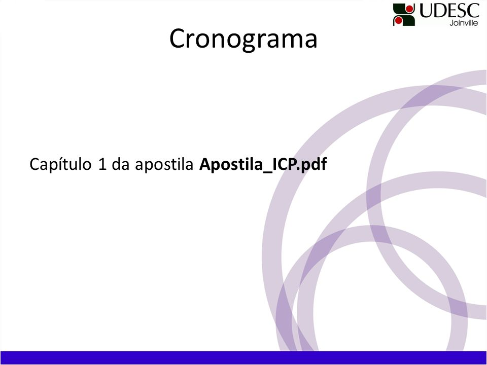 Cronograma Capítulo 1 da apostila Apostila_ICP.pdf
