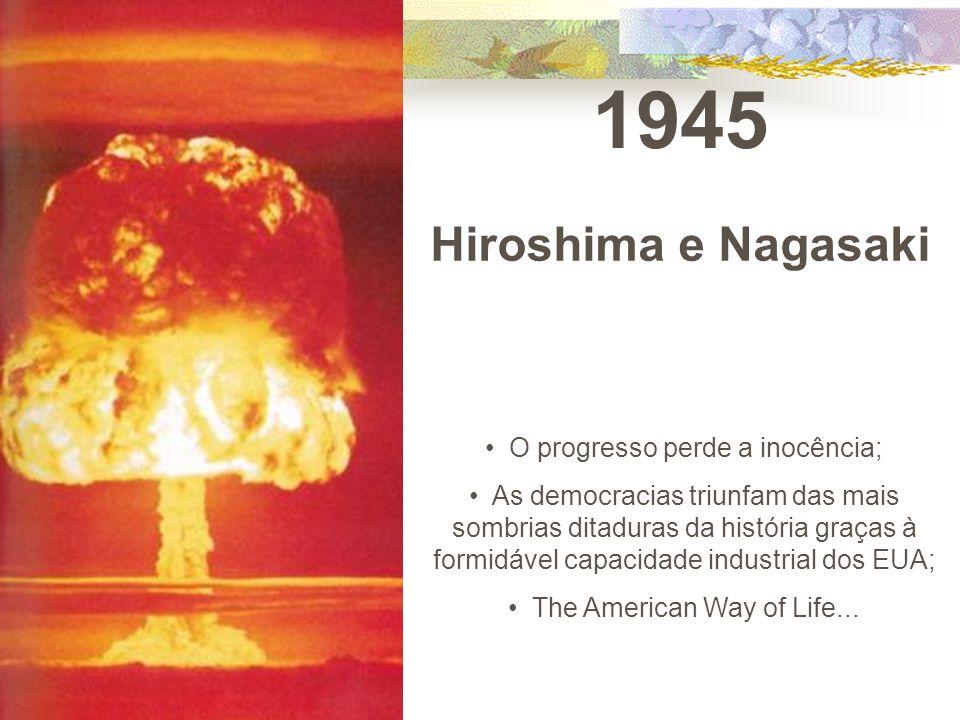 1945 Hiroshima e Nagasaki O progresso perde a inocência;
