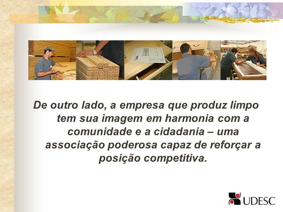 De outro lado, a empresa que produz limpo tem sua imagem em harmonia com a comunidade e a cidadania – uma associação poderosa capaz de reforçar a posição competitiva.