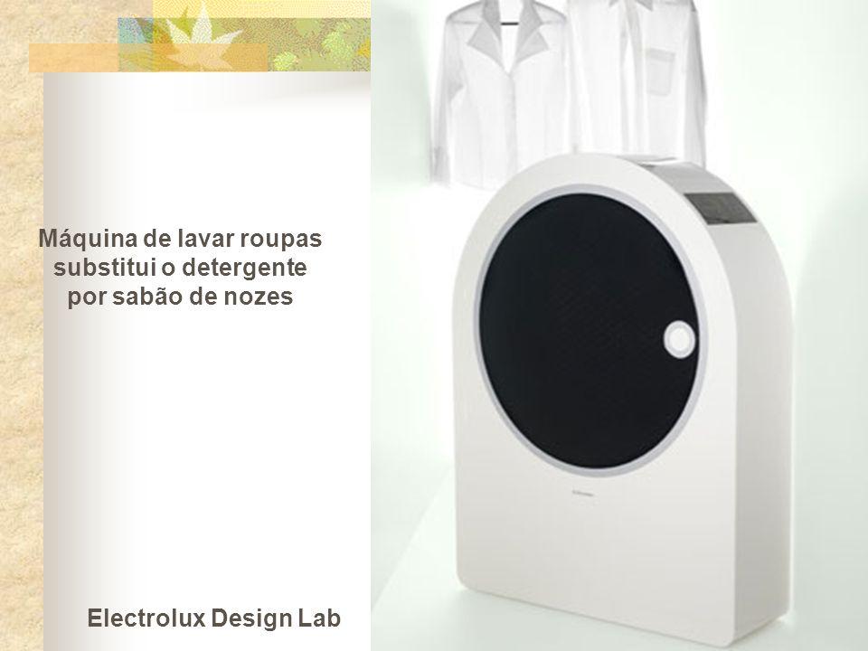 Máquina de lavar roupas substitui o detergente por sabão de nozes