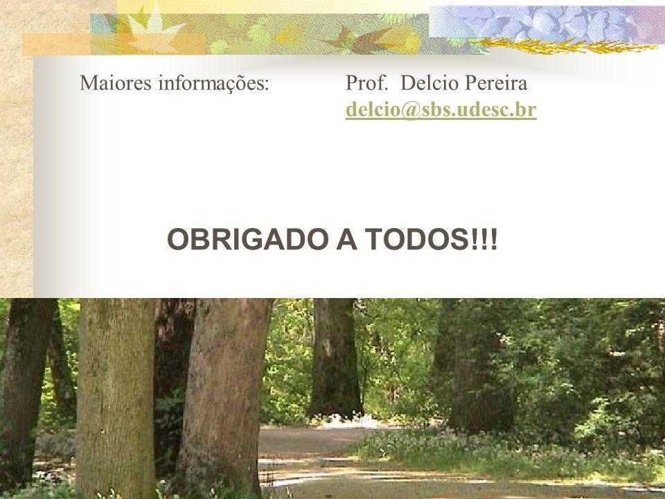 OBRIGADO A TODOS!!! Maiores informações: Prof. Delcio Pereira