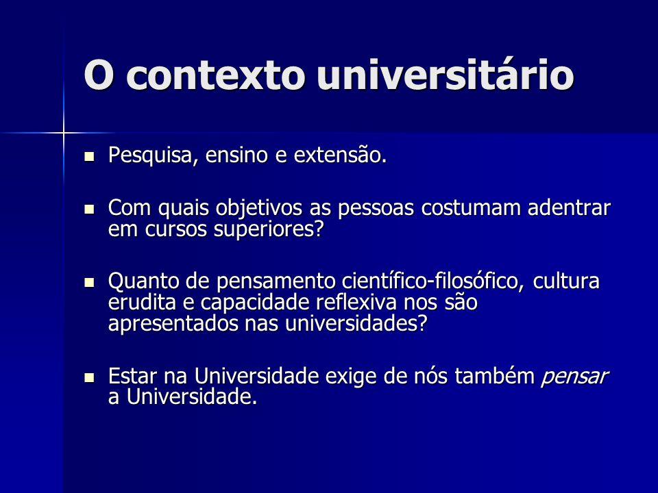 O contexto universitário
