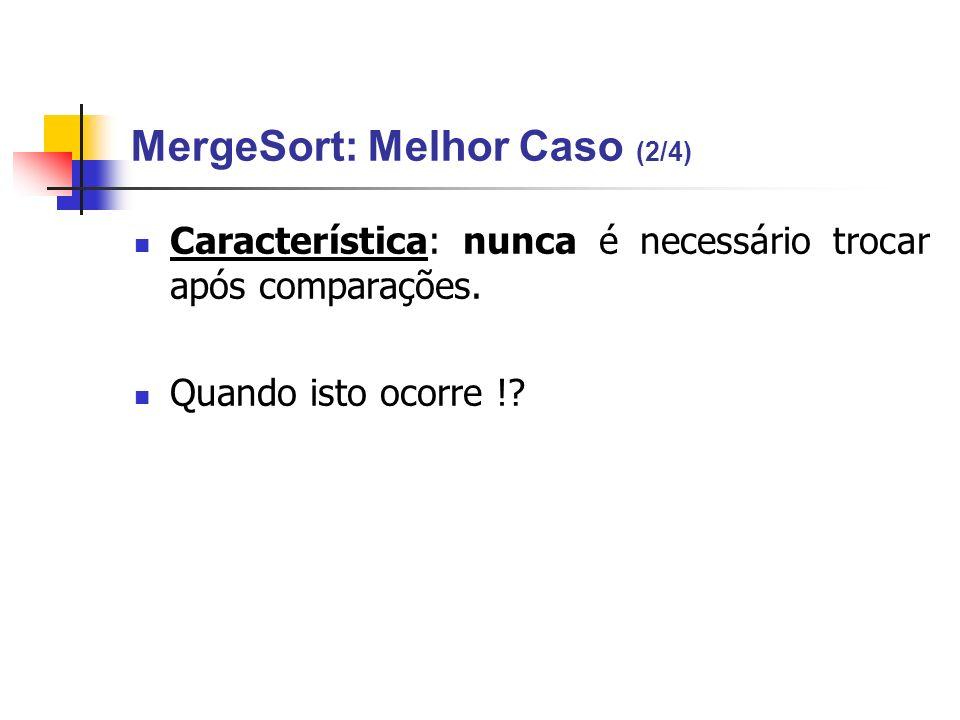 MergeSort: Melhor Caso (2/4)