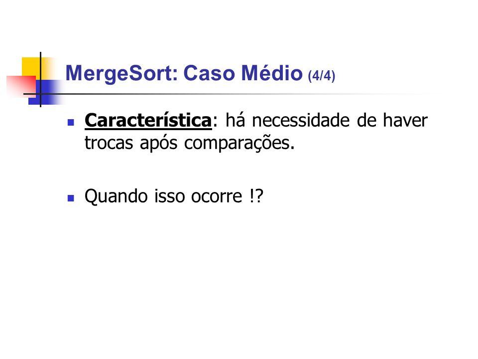 MergeSort: Caso Médio (4/4)