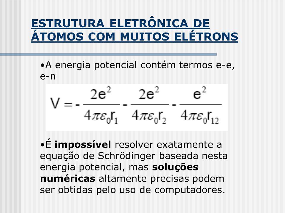 ESTRUTURA ELETRÔNICA DE ÁTOMOS COM MUITOS ELÉTRONS