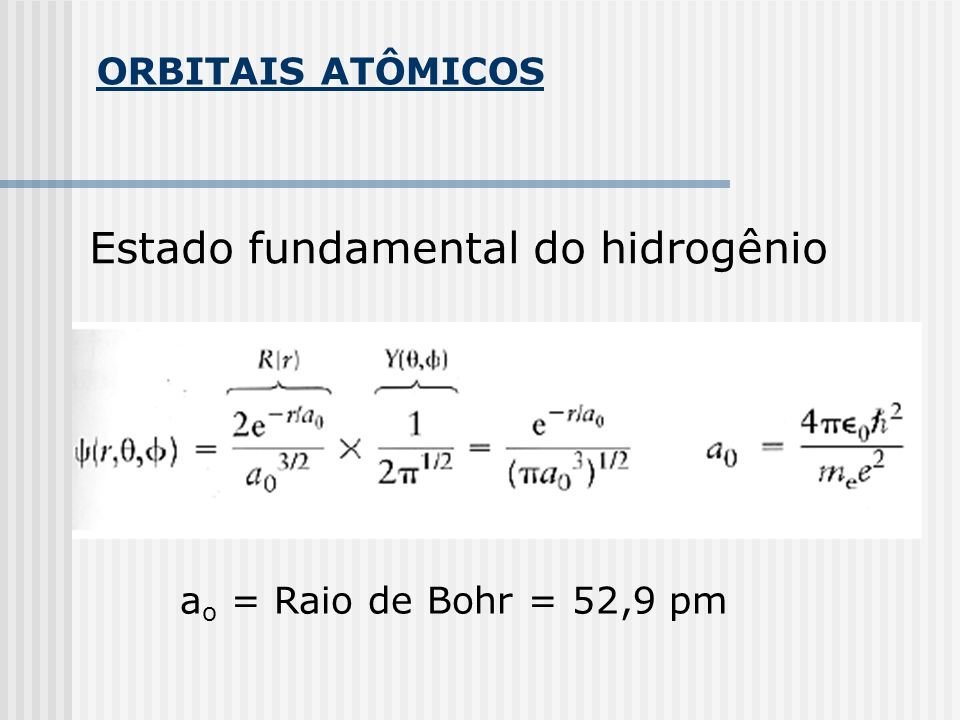 Estado fundamental do hidrogênio
