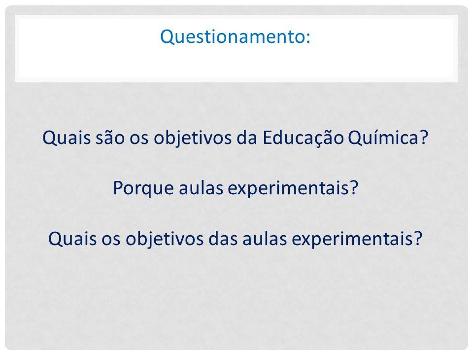 Questionamento: Quais são os objetivos da Educação Química
