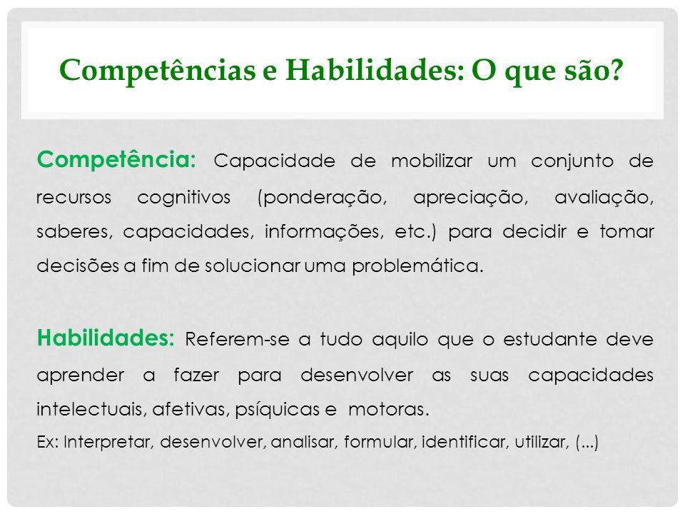 Competências e Habilidades: O que são