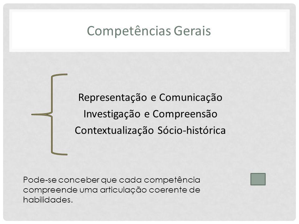 Competências Gerais Representação e Comunicação
