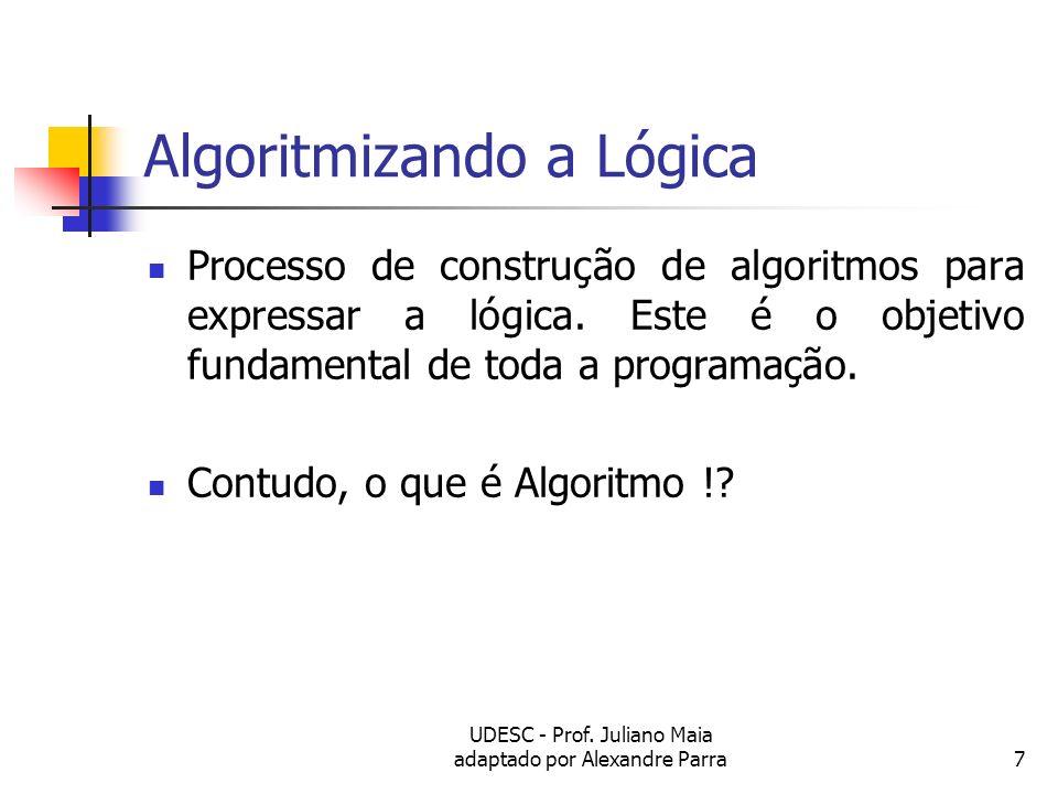 Algoritmizando a Lógica
