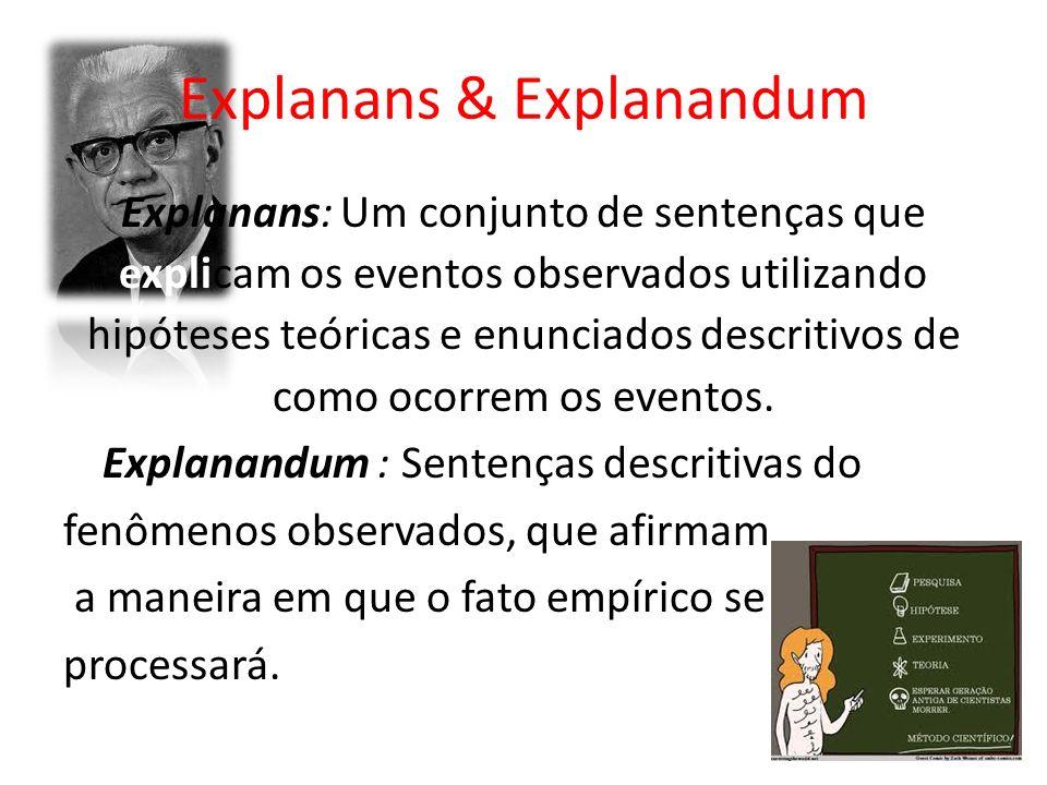 Explanans & Explanandum