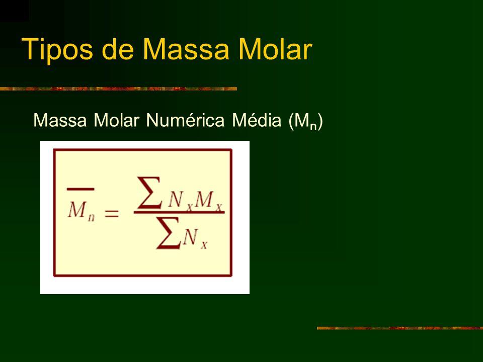 Tipos de Massa Molar Massa Molar Numérica Média (Mn)