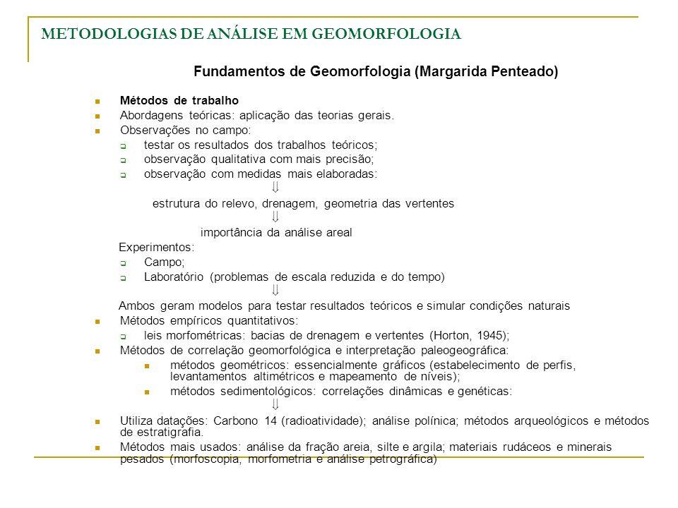 METODOLOGIAS DE ANÁLISE EM GEOMORFOLOGIA