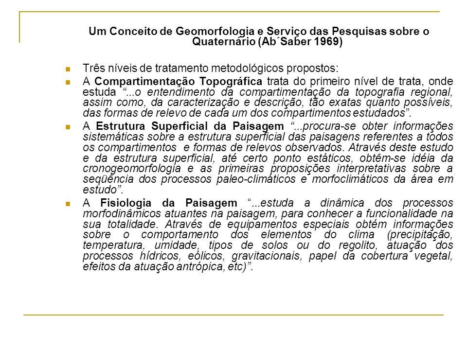 Um Conceito de Geomorfologia e Serviço das Pesquisas sobre o Quaternário (Ab´Saber 1969)