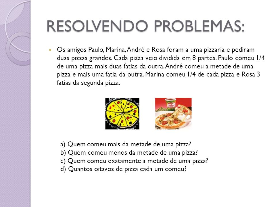 RESOLVENDO PROBLEMAS: