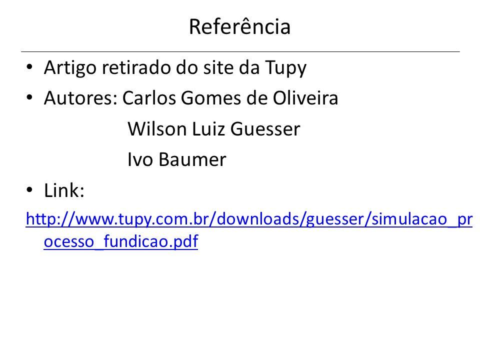 Referência Artigo retirado do site da Tupy