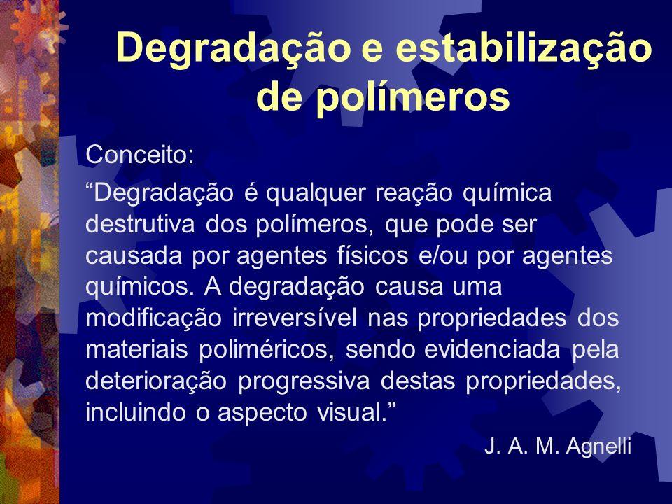 Degradação e estabilização de polímeros