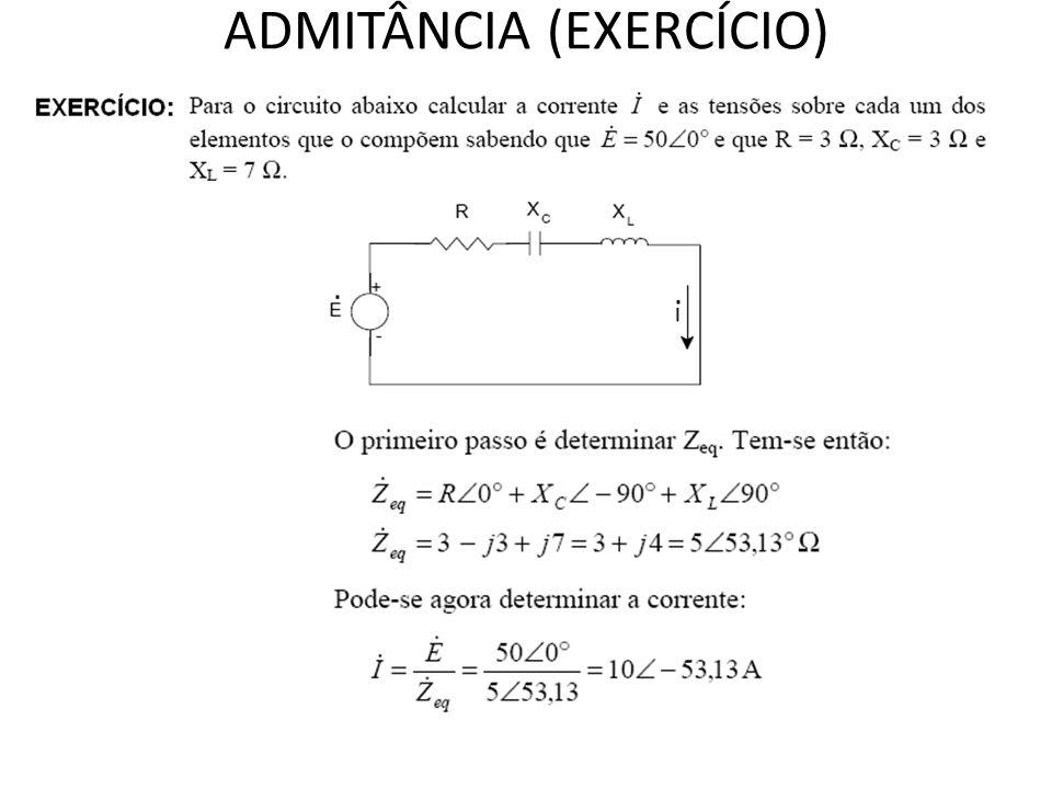 ADMITÂNCIA (EXERCÍCIO)