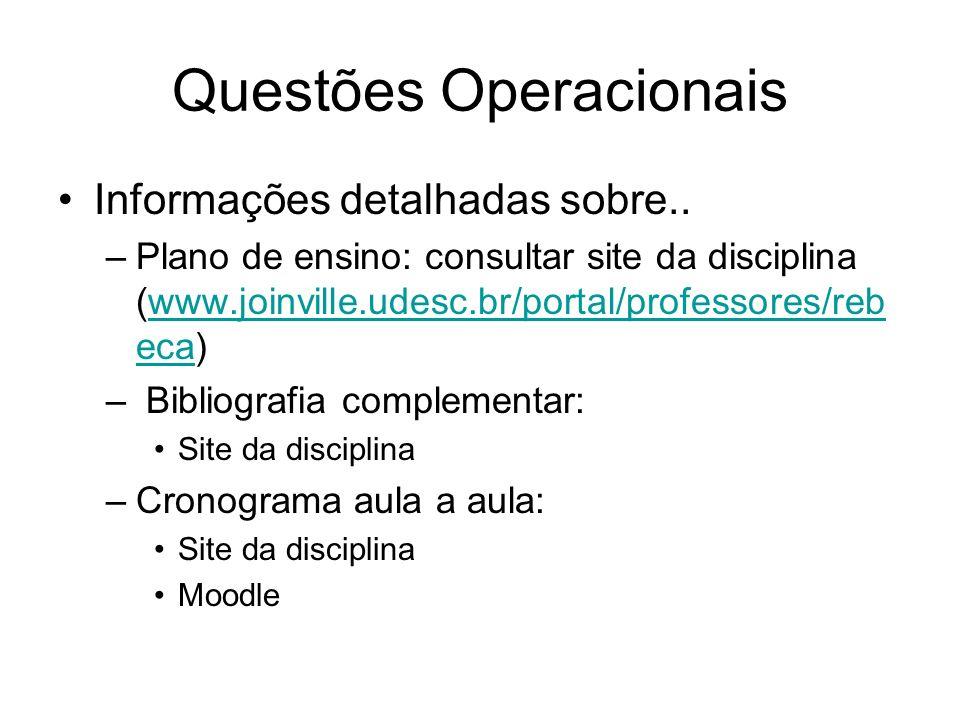 Questões Operacionais