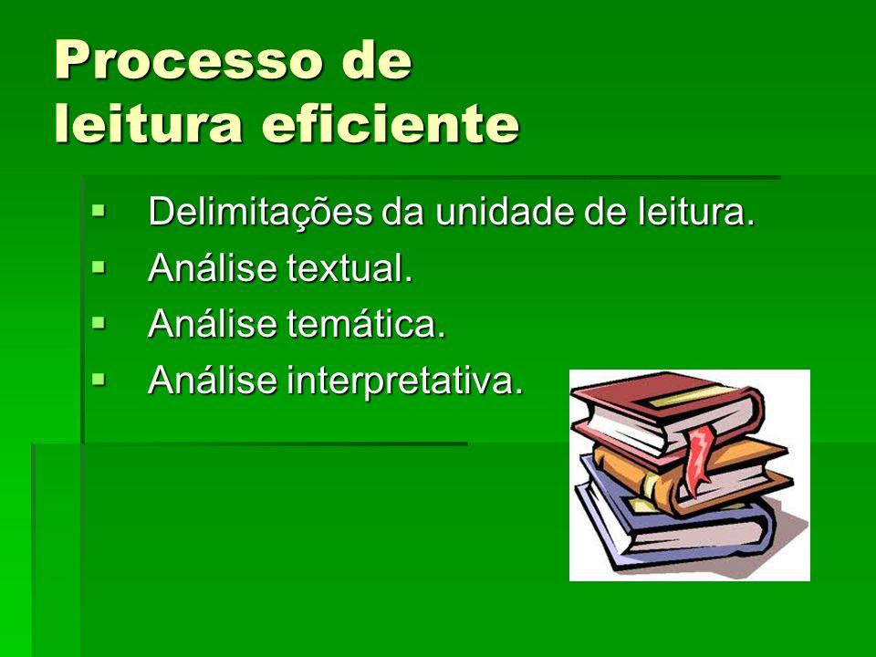 Processo de leitura eficiente