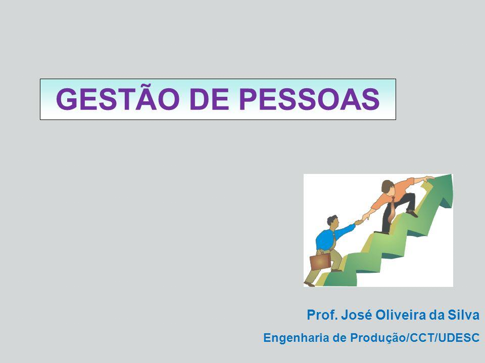 GESTÃO DE PESSOAS Prof. José Oliveira da Silva