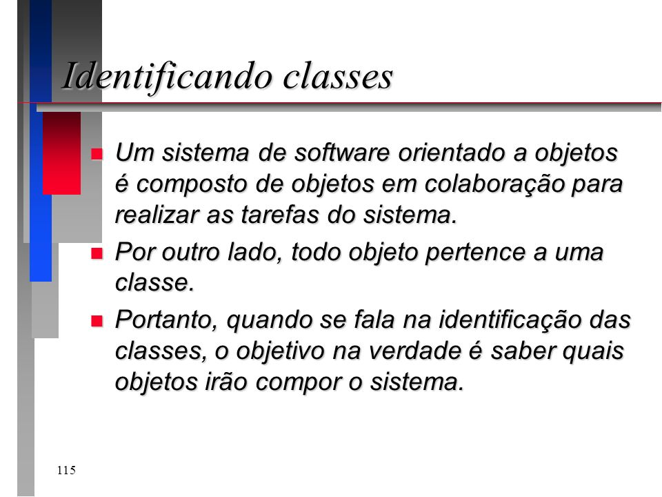 Identificando classes