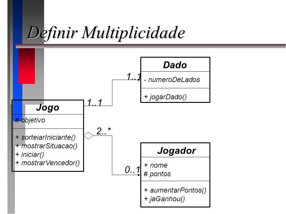 Definir Multiplicidade