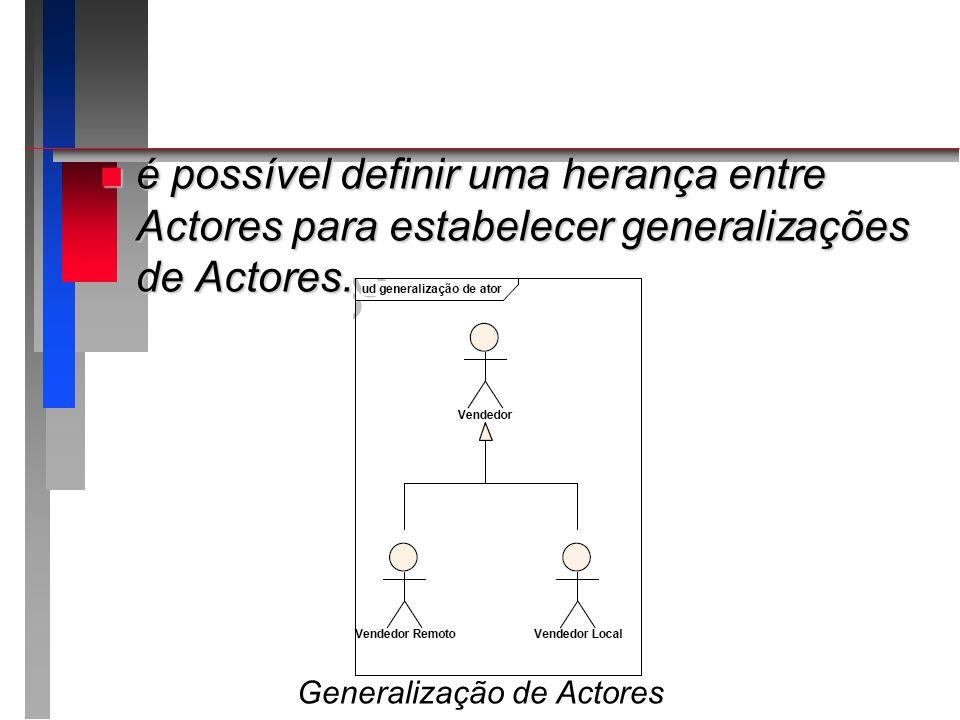 Generalização de Actores
