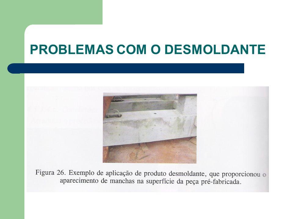 PROBLEMAS COM O DESMOLDANTE