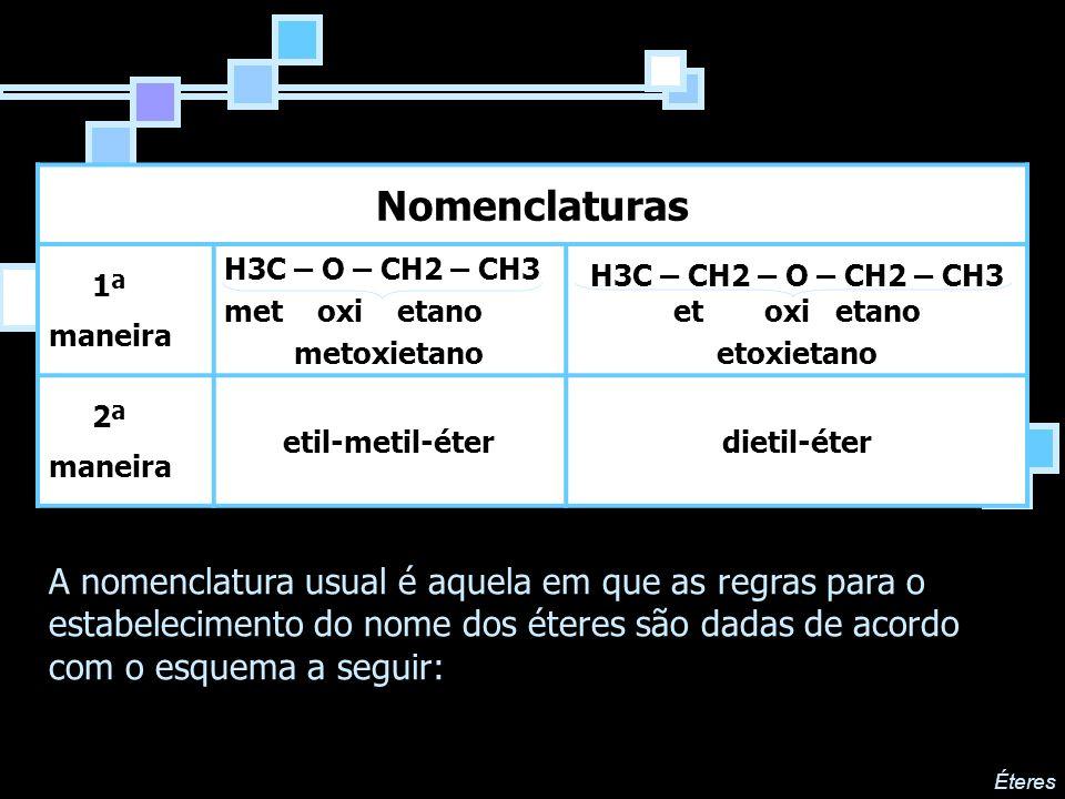 H3C – CH2 – O – CH2 – CH3 et oxi etano
