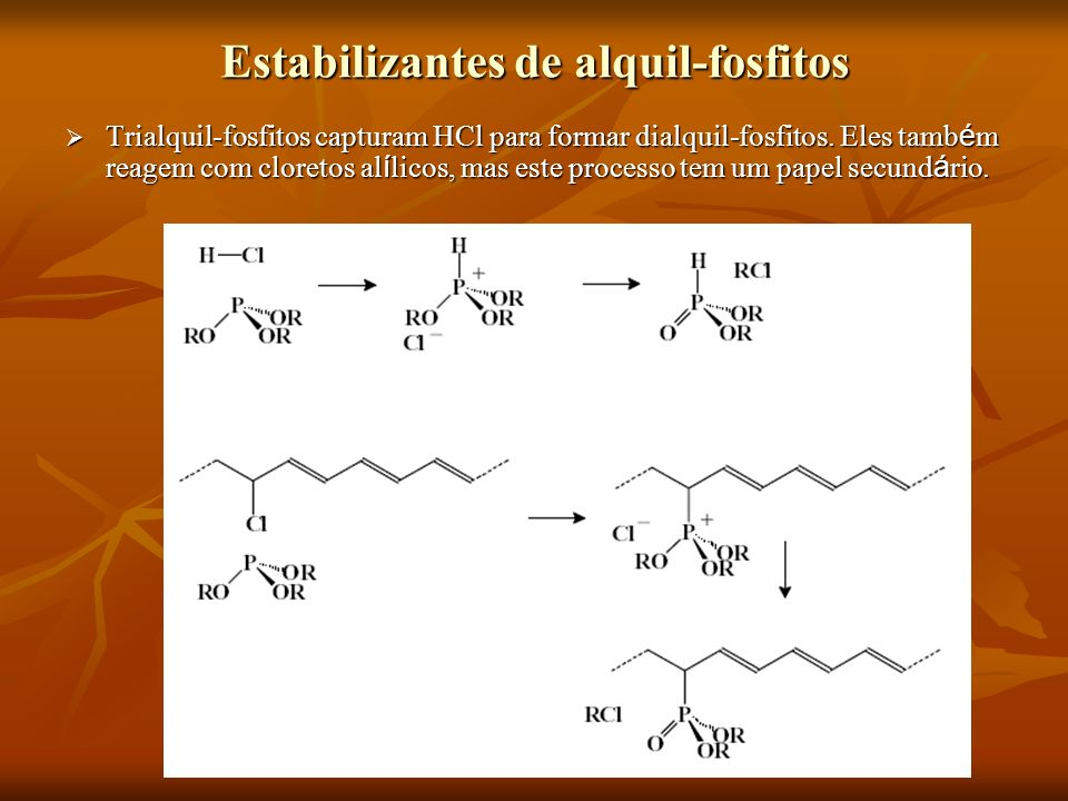 Estabilizantes de alquil-fosfitos