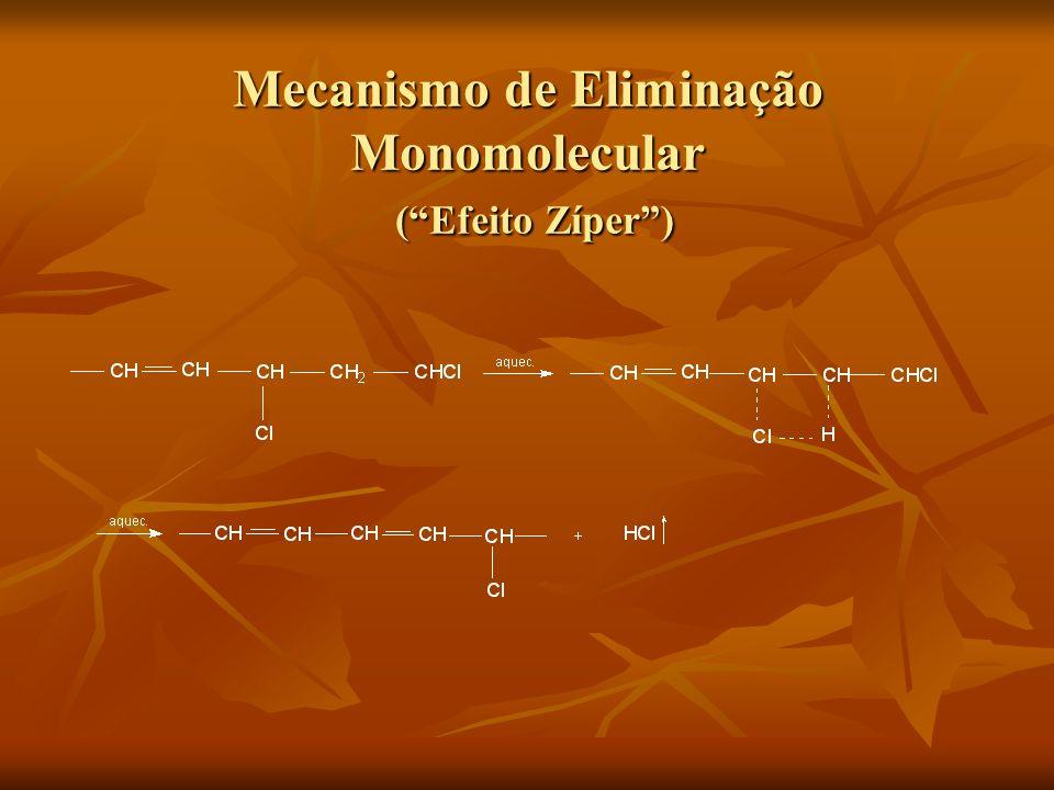 Mecanismo de Eliminação Monomolecular ( Efeito Zíper )