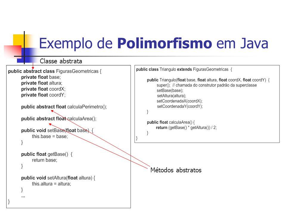 Exemplo de Polimorfismo em Java