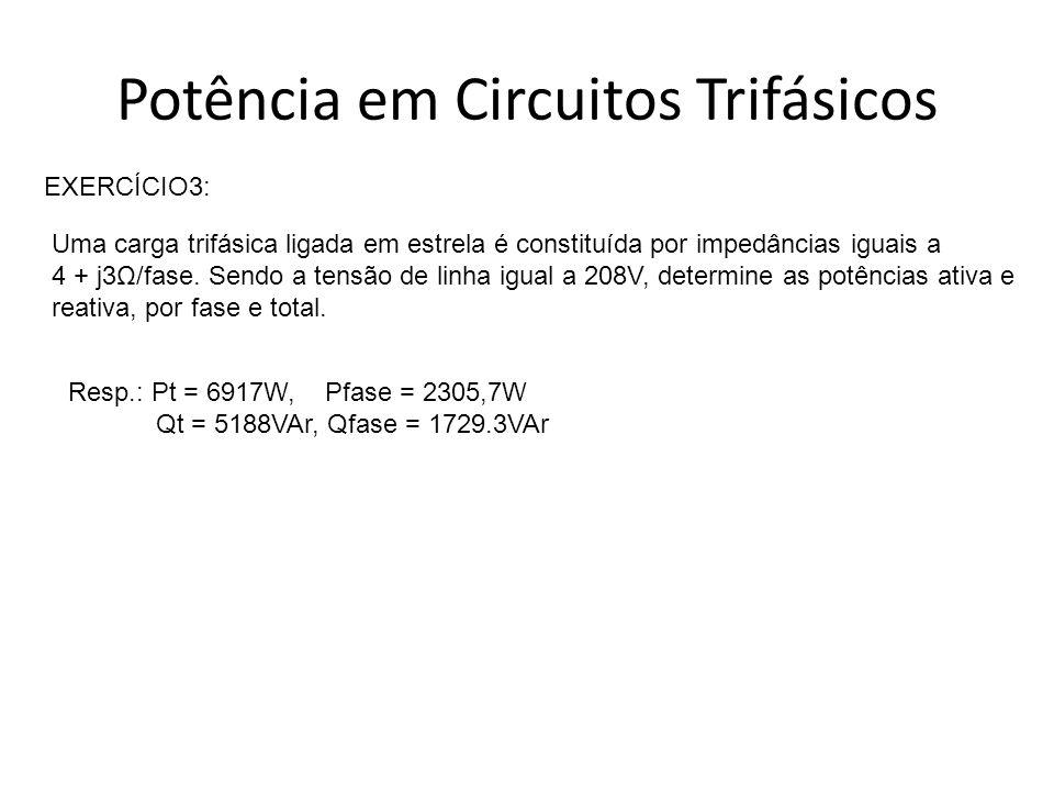 Potência em Circuitos Trifásicos
