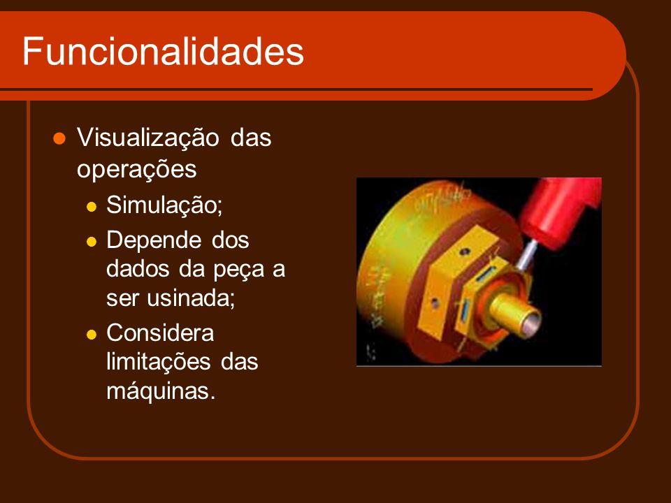Funcionalidades Visualização das operações Simulação;