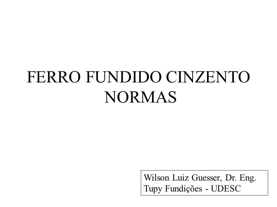 FERRO FUNDIDO CINZENTO NORMAS