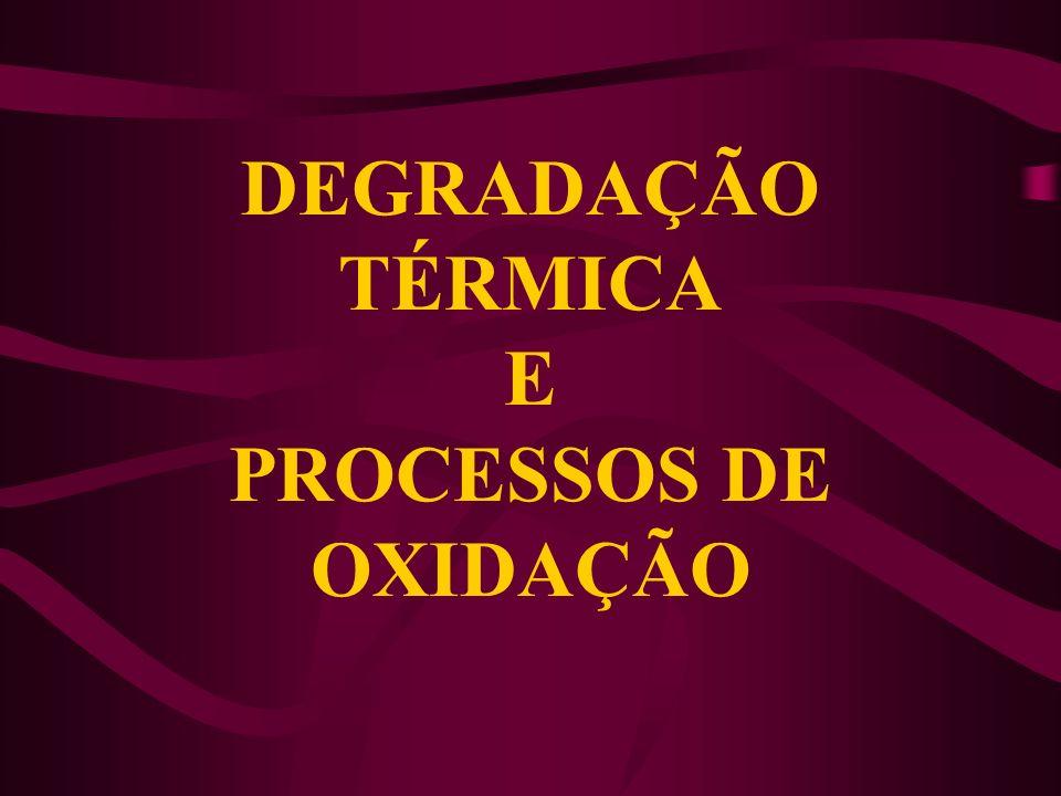 DEGRADAÇÃO TÉRMICA E PROCESSOS DE OXIDAÇÃO