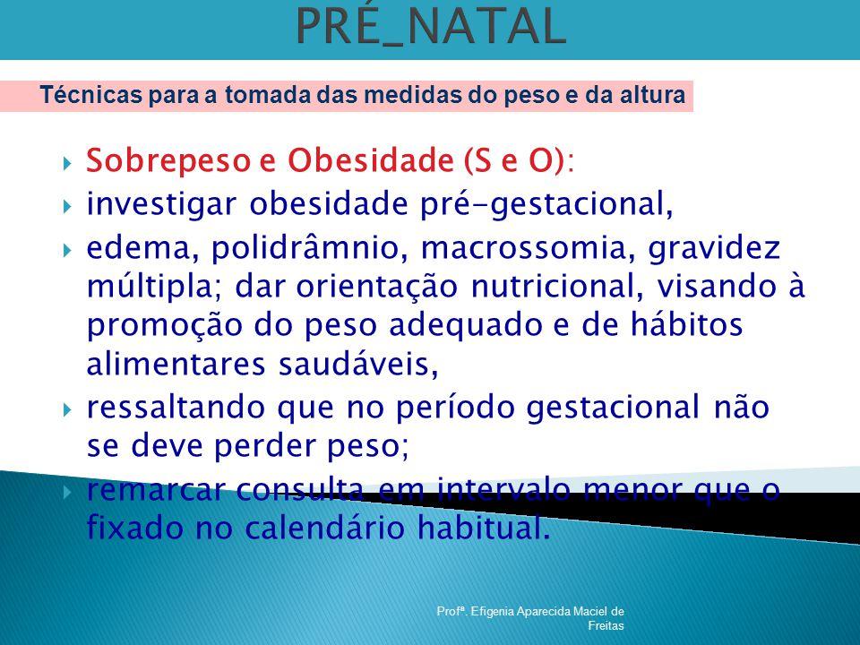PRÉ_NATAL Sobrepeso e Obesidade (S e O):