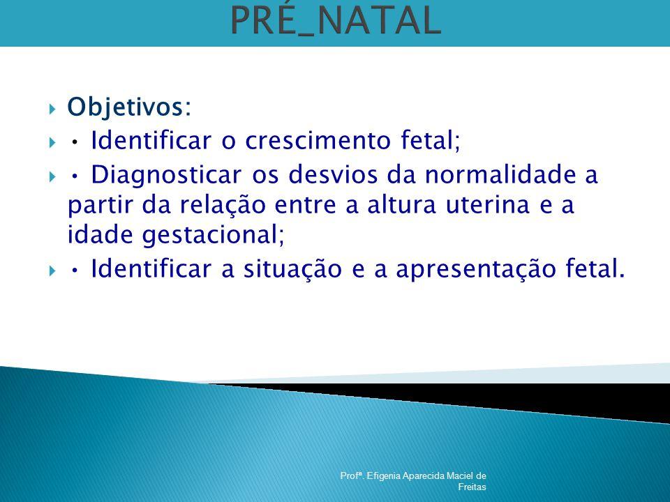 PRÉ_NATAL Objetivos: • Identificar o crescimento fetal;