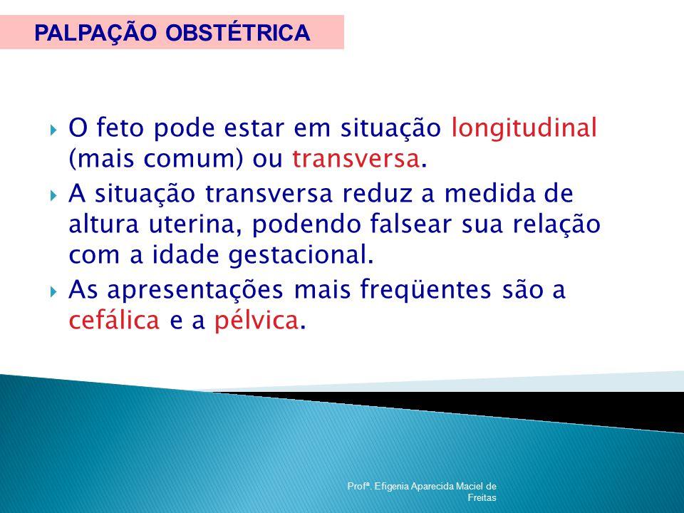 O feto pode estar em situação longitudinal (mais comum) ou transversa.