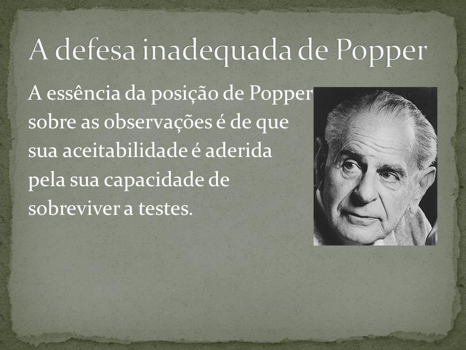 A defesa inadequada de Popper