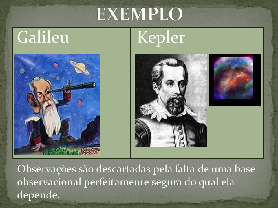 EXEMPLO Galileu Kepler