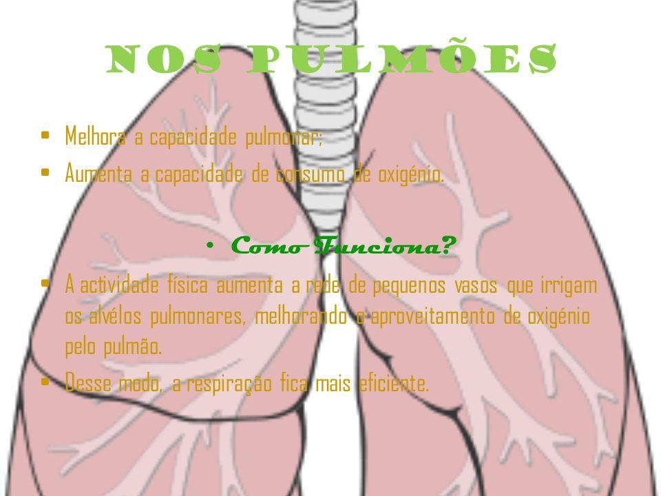 Nos Pulmões Melhora a capacidade pulmonar;